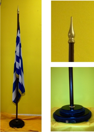 how to make a flag pole stand