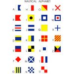 Nautical code flags - letters