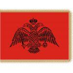 Βυζαντινή κόκκινη σημαία με κρόσσι