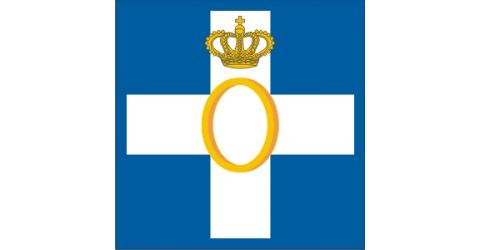 Flag with king Otto's arms