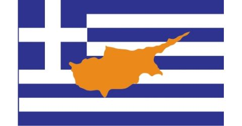 Greek flag with the island of Cyprus (2)