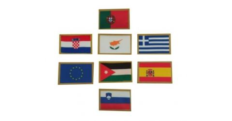 Fabric patches of countries