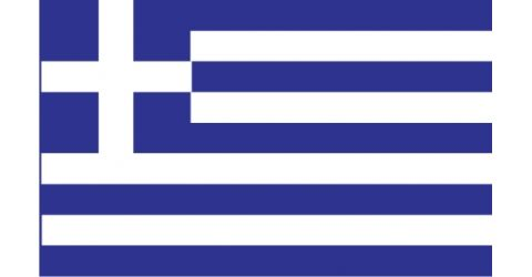 Greek car flag without fringe
