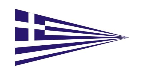 Greek triangular flag