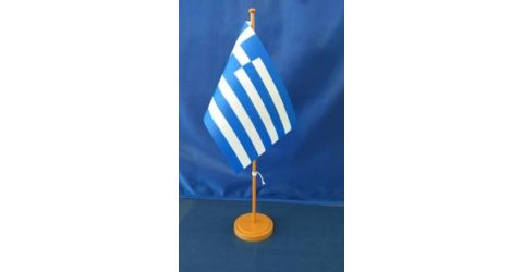 Plastic table flag stand