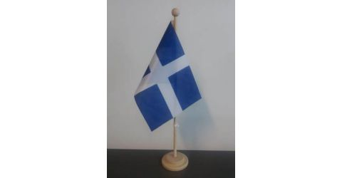 Wooden stand for table flags