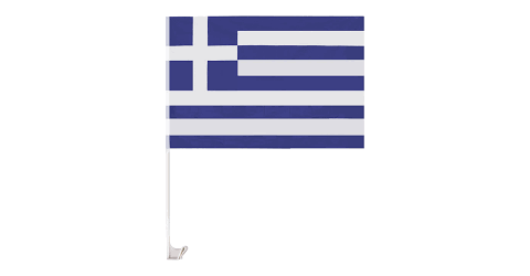 Ελληνική σημαία με πλαστικό κονταράκι
